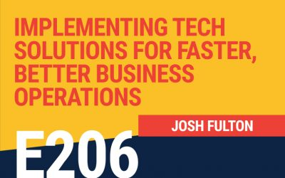 E206: Implementing Tech Solutions for Faster, Better Business Operations